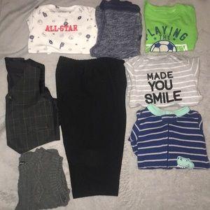 12M Boys Clothing, 8 piece lot, Carter's etc